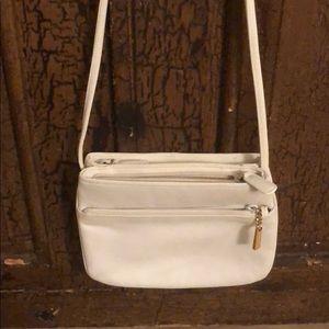 Italian leather crossbody purse.
